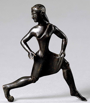 Spartan bronze figure of female