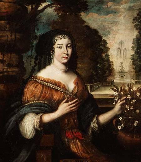 Portrait of writer Madeleine de Scudéry
